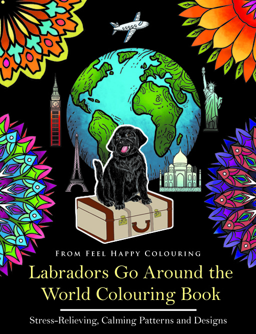 labrador colouring book