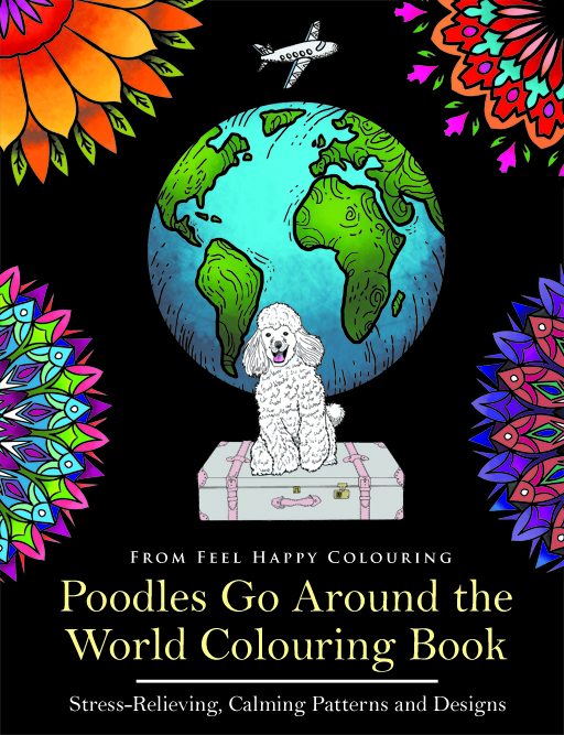 POODLE colouring book pages.