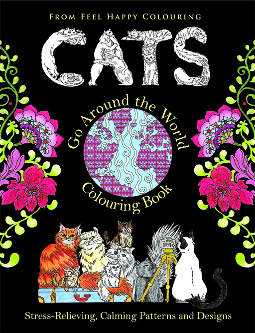 cat colouring coloring book pages