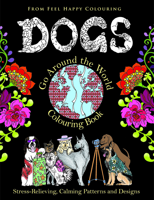Dogs Go Around the World Colouring Book