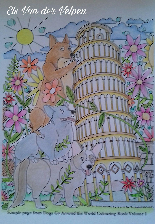 dogs colouring book - corgis
