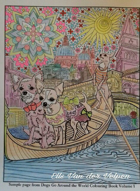 dogs colouring book