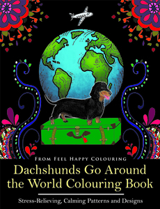 Dachshunds Colouring Book Pages
