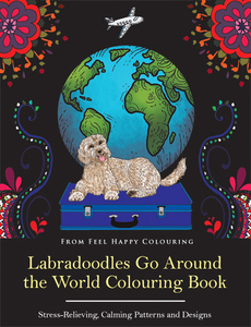 Labradoodle colouring book