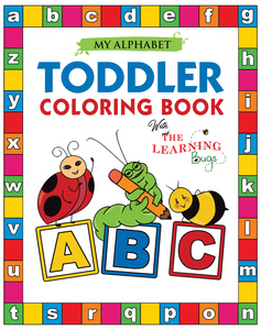 Alphabet toddler coloring book for kids