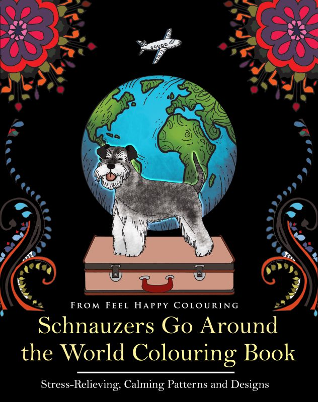SCHNAUZER colouring book