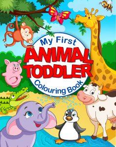 animal toddler colouring book